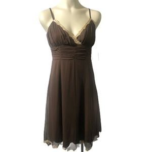 🌵Jonathan Martin Petites brown silk dress size 8P